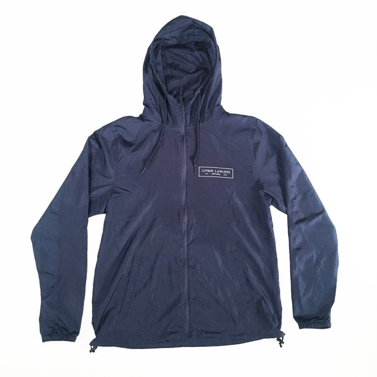 Navy Blue Lightweight Windbreaker Jacket