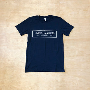 Navy Blue T Shirt w/White Logo