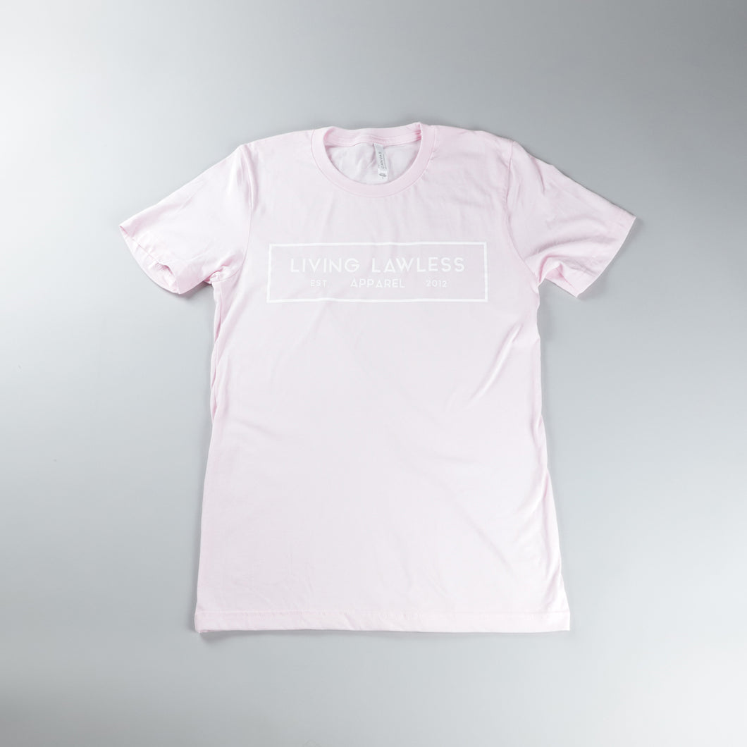Soft Pink T Shirt w/White Logo