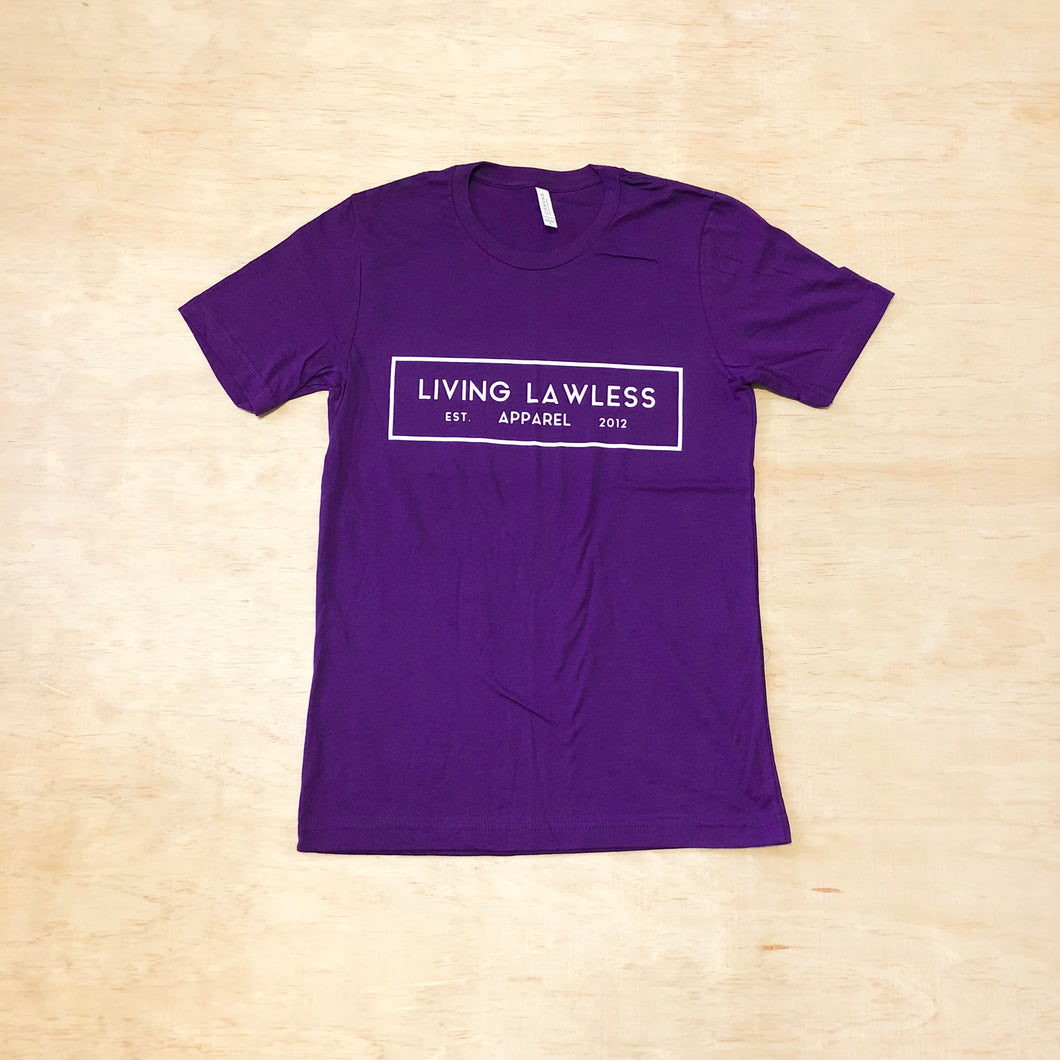 Purple T Shirt w/White Logo