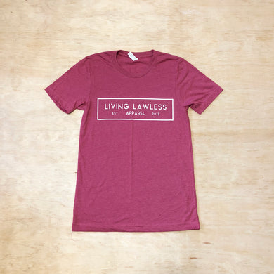 Raspberry T Shirt w/White Logo