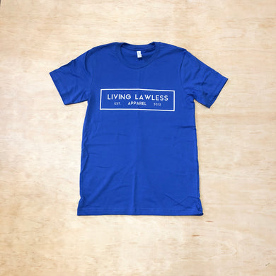 Royal Blue T Shirt w/White Logo