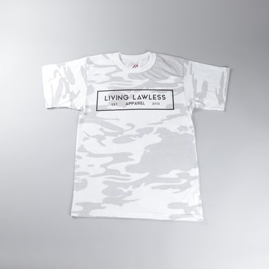 White Camo T Shirt w/Black Logo