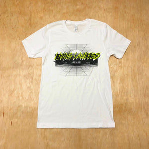80's Tee - White/Volt/Black