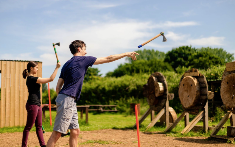 axe throwing bristol date idea