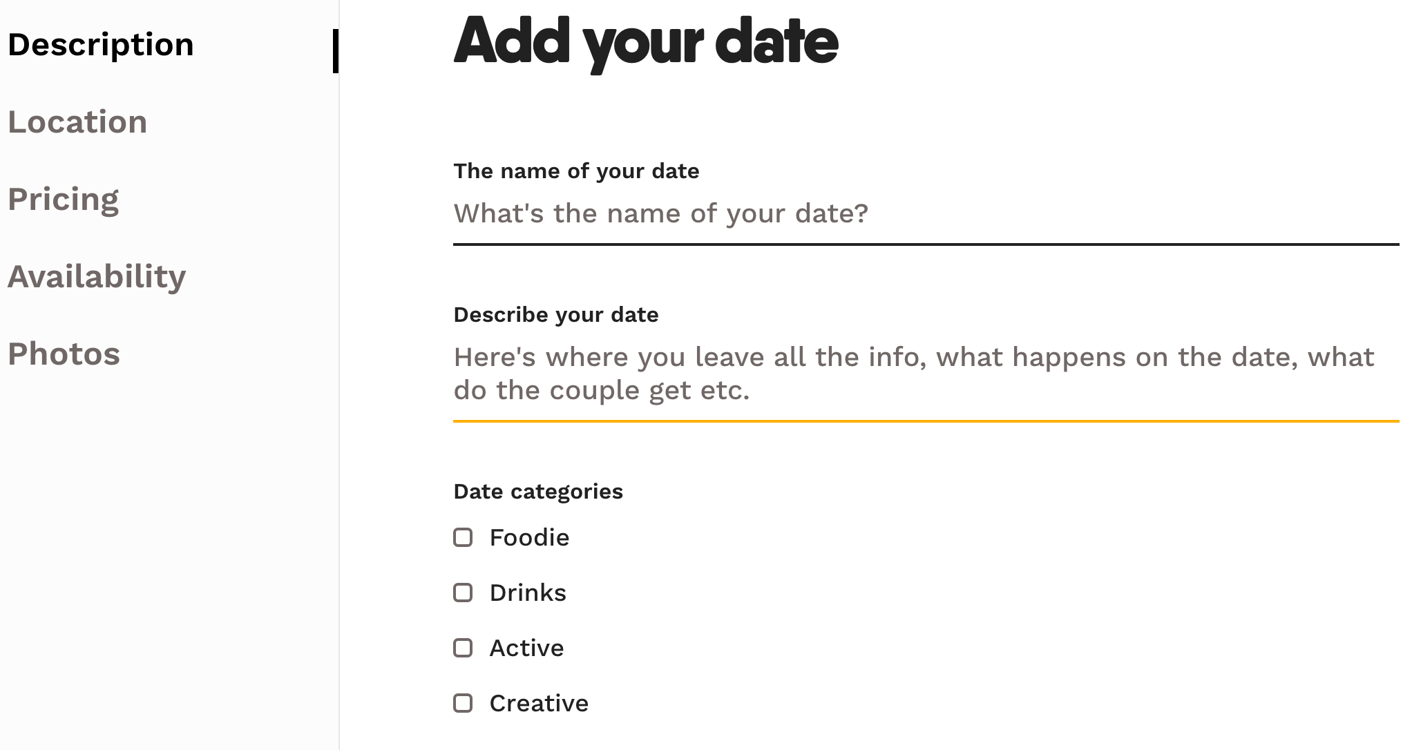 how to add a date datemakers