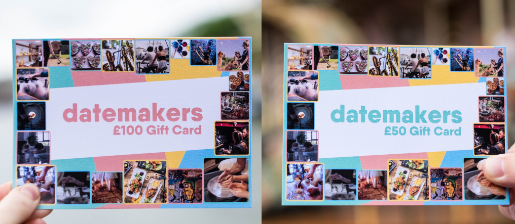 gift card datemakers gift idea bristol
