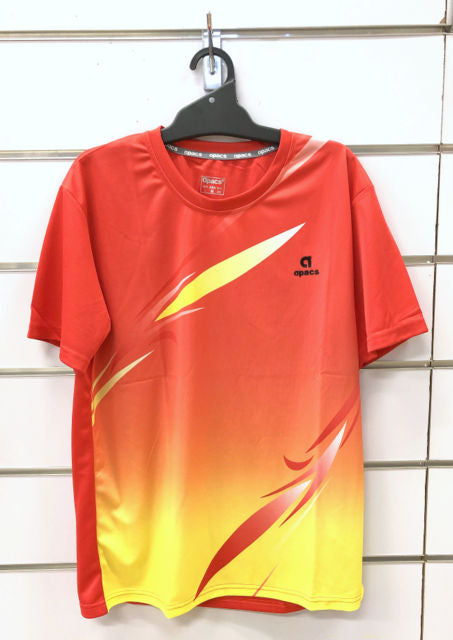 APACS T Shirt AP-3259 Red/Yellow
