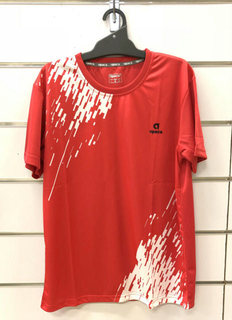 APACS T Shirt AP-3257 Red/White