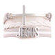 White Leather strap with Silver 'JESUS' Bracelet and Cross