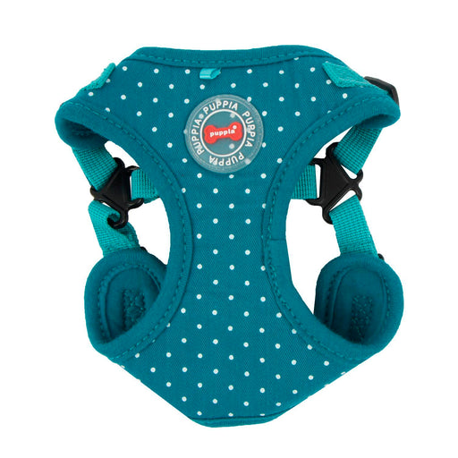 Dotty Adjustable Step-In Dog Harness by Puppia - Teal
