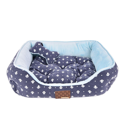 Ernest Dog Bed by Puppia - Navy - The Bark Hub