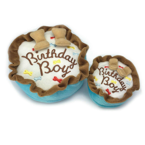 Birthday Boy Cake Plush Dog Toy - The Bark Hub