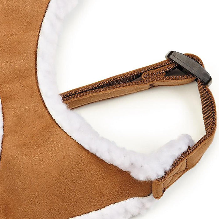 Zack and Zoey Shearling Dog Harness - Chestnut