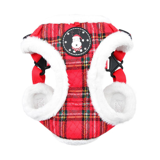 Blitzen Adjustable Step-In Dog Harness by Puppia - Red Plaid - The Bark Hub