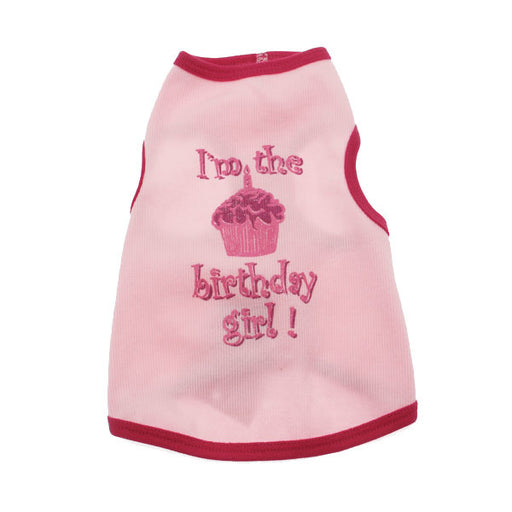 Birthday Girl Dog Tank Top - Pink - The Bark Hub