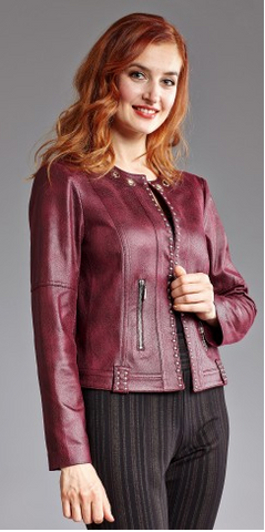 Textured Pleather Jacket