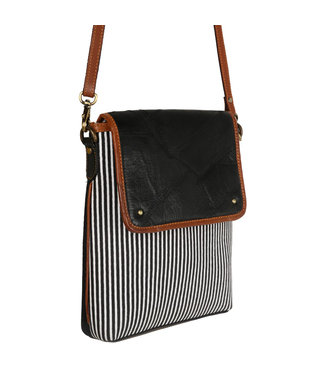 Woodblock Flap Bag