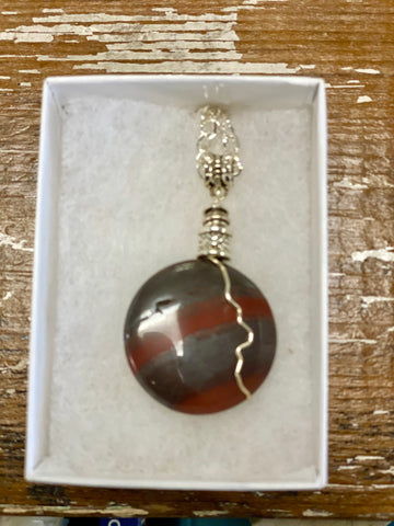 Red Lighting Agate Necklace