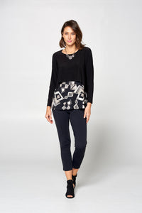 Long Sleeve Shorty Popover Top