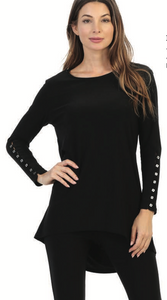 Button sleeve long top