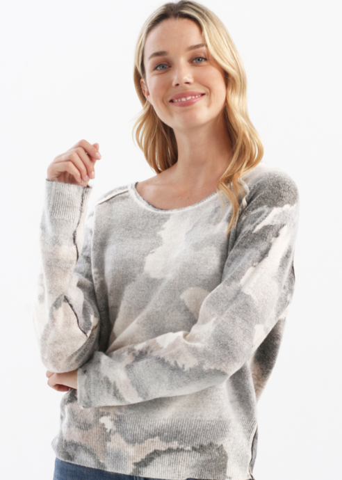 Reversible Printed Sweater