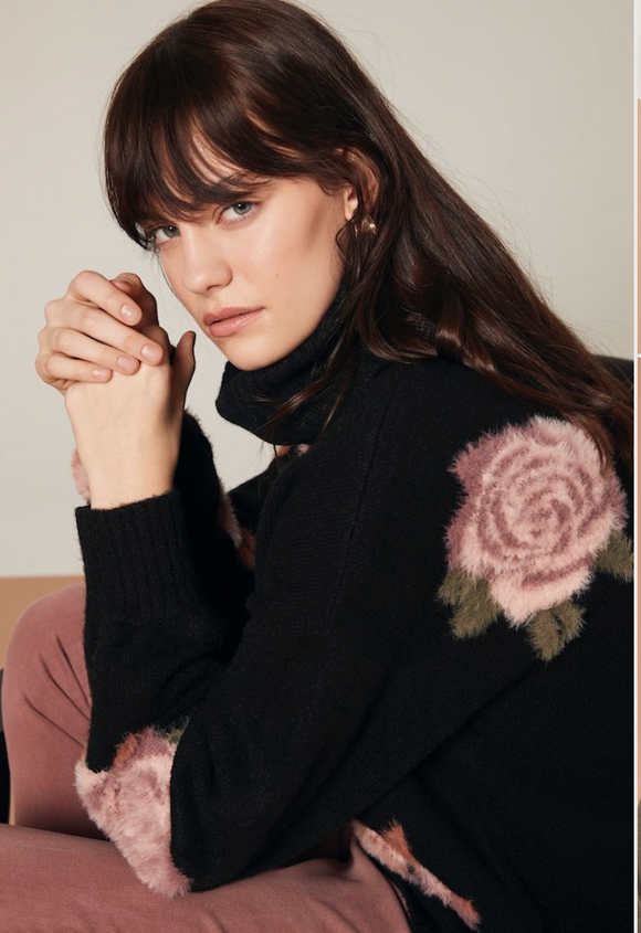 Flower Turtleneck
