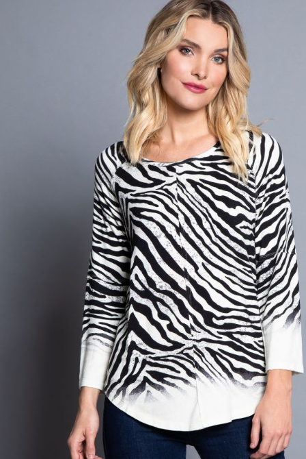 Zebra Scoop Neck
