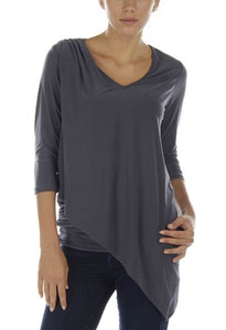 2 Layer V Neck w/ Bottom Rouching