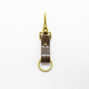 BRASS & LEATHER BOTTLE KEYRING 13306 CH