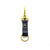 BRASS & LEATHER BOTTLE KEYRING 13306 NVY