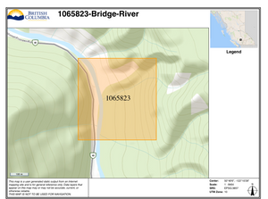 Bridge River BC Gold Claim Map