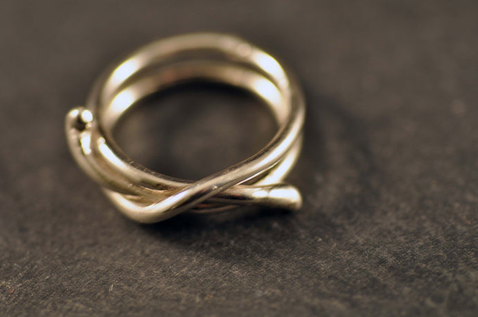 Dubbelt halvslag som ring / Clove hitch as ring