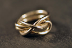 Skotstek som ring / Sheet bend as ring