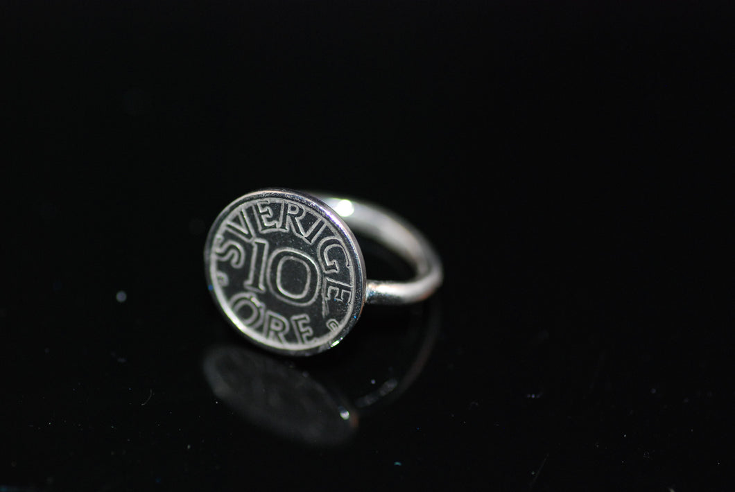 Ring with old coin