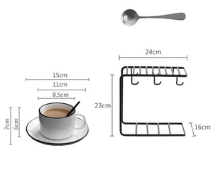 European Coffee Cup Set