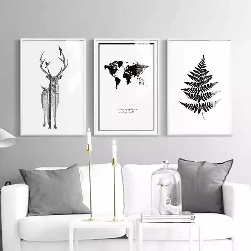 Modern Minimalist Black And White Living Room Decorative Painting