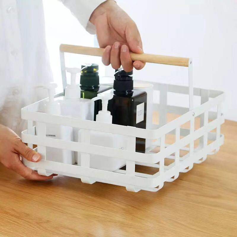Simple And Stylish Iron Craft Desktop Storage Basket