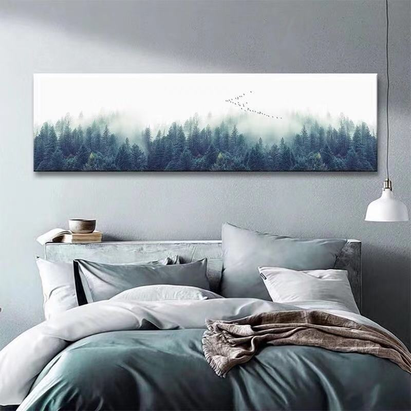 Modern Minimalist Fresh Bedside Decorative Painting
