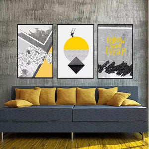 Nordic Abstract Geometric Decorative Painting
