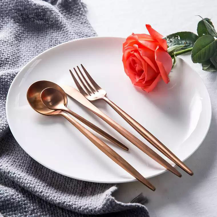 Rose Gold Dinner Set