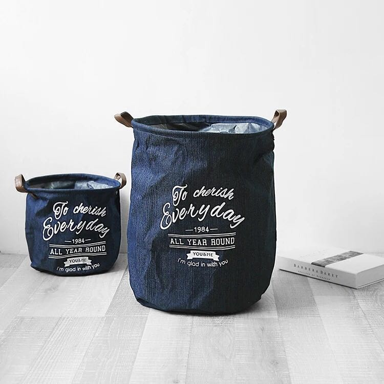 European And American Style Denim Storage Bucket