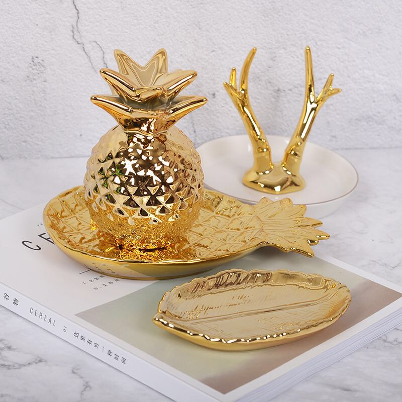 Creative Pineapple Ceramic Storage Tray