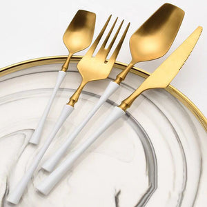 Wais™ White Gold Dinner Set