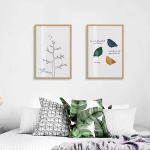 Simple Bedroom Bedside Decorative Painting