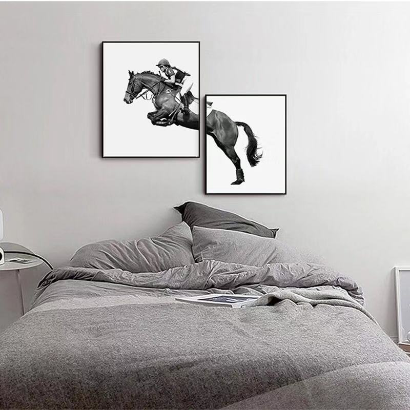 Nordic Modern Horse Racing Decorative Painting