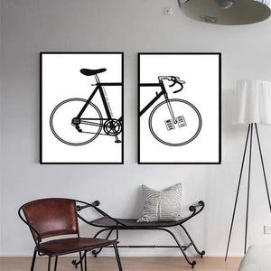 Modern Minimalist Bicycle Decoration Painting