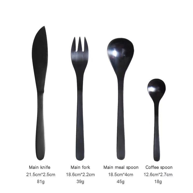 Sole™ Black Dinner Set