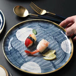 Japanese-Style Hand-Painted Ceramic Steak Western Dish