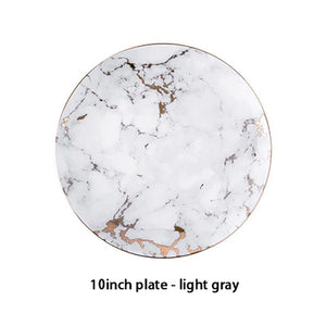Marbled Ceramic Michelangelo Plate